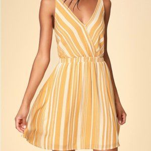 Lulus Oceanside Adventure Yellow Striped Dress